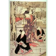 歌川豊国: Three Dancers on a Stage, panel from a pentaptych - Legion of Honor