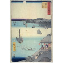 Utagawa Hiroshige: Unidentified harbor scene , probably from an unidentified Tokaido set - Legion of Honor