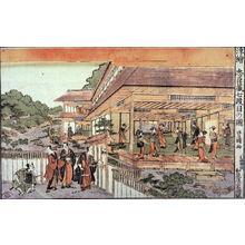 Utagawa Toyokuni I: Perspective Pictures (Ukie) from Act 7 of Chushingura (Chushingura shichidamme no zu) - Legion of Honor