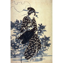 Utagawa Toyoshige: Geisha and Kikyo Flowers - Legion of Honor