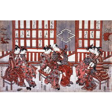 Ishikawa Toyonobu: Three Couples Playing Musical Instruments - Legion of Honor