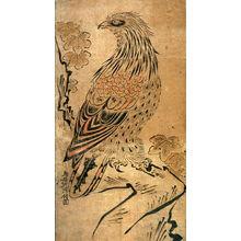 鳥居清倍: Eagle on a Cliff by a Paulownia Tree - Legion of Honor