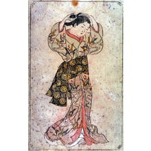 Nishikawa Sukenobu: Woman Adjusting Hair - Legion of Honor