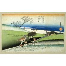歌川広重: At Yase Village (Yase no sato) , from the series Famous Places in Kyoto (Kyoto meisho no uchi) - Legion of Honor