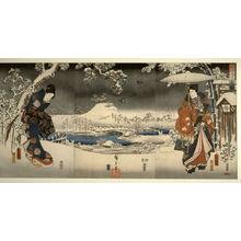 歌川広重: A Snowy Prospect from the series Elegant Prince Genji (Furyu Genji) - Legion of Honor