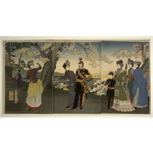 Toyohara Chikanobu: Imperial Party Visists the Park at Asukayama - Legion of Honor