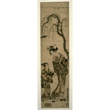 Torii Kiyohiro: The actor Yamashita Kinsaku as a Courtesan with an Attendant - Legion of Honor
