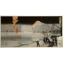 小林清親: The Naval Victory at Chemulpo, February 1904 - Legion of Honor