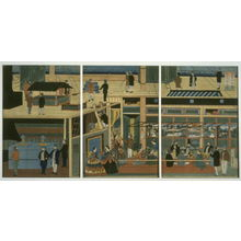 Utagawa Yoshikazu: Interior of an American Steamship - Legion of Honor