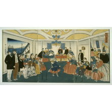 Utagawa Yoshikazu: Banquet and Musicale in a Foreigner's Home - Legion of Honor