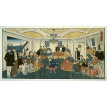 歌川芳員: Banquet and Musicale in a Foreigner's Home - Legion of Honor