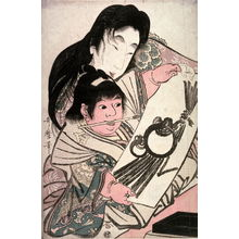 Kitagawa Utamaro: Yamauba Admiring Kintar??s First Painting of the New Year - Legion of Honor
