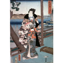 Utagawa Kunisada: [Prince Genji at Suma (?)] - Legion of Honor