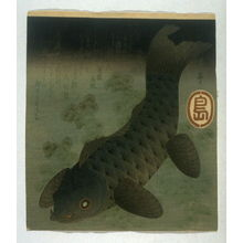 屋島岳亭: Carp Swimming Among Water Weeds - Legion of Honor