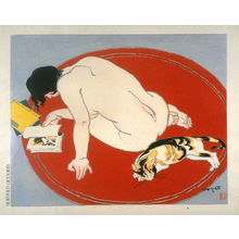 石川寅治: Leisure Hours (Nude and Cat) - Legion of Honor