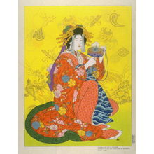 Paul Jacoulet: Daikoku, God of Health, Personified by a Courtesan of the Shimabara, Kyoto - Legion of Honor