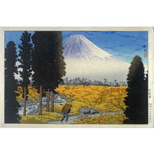 Takahashi Hiroaki: View of Mount Fuji (with peasant walking) - Legion of Honor
