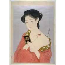 橋口五葉: Woman at her Toilet - Legion of Honor