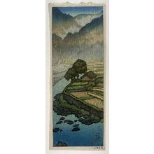 Hashiguchi Goyo: Yabakei (landscape with a Peasant Cart in the Rain) - Legion of Honor