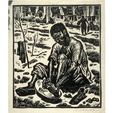 北岡文雄: Washing Feet - Legion of Honor