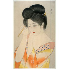 Kiyoshi Kohayakawa: Woman Fixing Her Hair - Legion of Honor