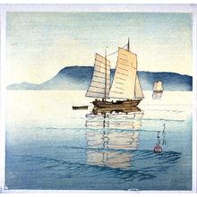 川瀬巴水: Ships in the Sea - Legion of Honor