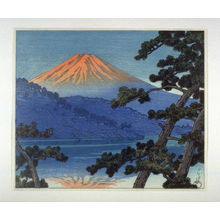川瀬巴水: Mount Fuji from Lake Shoji - Legion of Honor