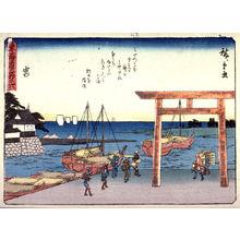 歌川広重: Miya, no. 42 from a series of Fifty-three Stations of the Tokaido (Tokaido gojusantsugi) - Legion of Honor