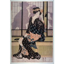 Kikugawa Eizan: Furyu yusuzumi sanbijin (Three elegant women enjoying the evening cool) - Legion of Honor