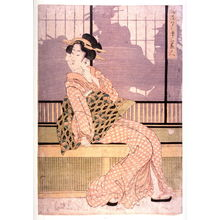 菊川英山: Furyu yusuzumi sanbijin (Three elegant women enjoying the evening cool) - Legion of Honor