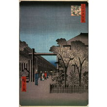 歌川広重: Dawn in the Yoshiwara (Licensed Quarters) (Kakuchu toun), no. 38 from the series One Hundred Views of Famous Places in Edo (Meisho edo hyakkei) - Legion of Honor