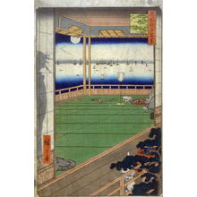 歌川広重: The Moon Promontory (Tsuki no Misaki), no. 82 from the series One Hundred Views of Famous Places in Edo (Meisho Edo hyakkei) - Legion of Honor