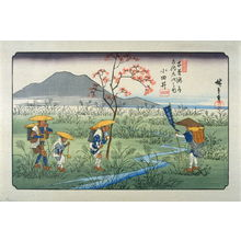Utagawa Hiroshige: Odai, pl. 22 from a facsimile edition of Sixty-nine Stations of the Kiso Highway (Kisokaido rokujukyu tsui) - Legion of Honor
