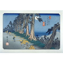 Utagawa Hiroshige: Mochizuki, pl. 26 from a facsimile edition of Sixty-nine Stations of the Kiso Highway (Kisokaido rokujukyu tsui) - Legion of Honor