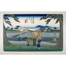 Utagawa Hiroshige: Takamiya, pl.65 from a facsimile edition of Sixty-nine Stations of the Kiso Highway (Kisokaido rokujukyu tsui) - Legion of Honor