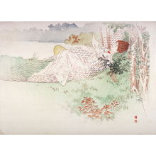 梶田半古: Western Woman in Hammock, Reading a Letter - Legion of Honor