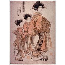 Isoda Kory?sai: The Courtesan Hinazuru of the Chojiya (Chojiya uchi hinazuru)from teh series New Patterns of Spring Greens (Hinagata wakana no hatsu moyo) - Legion of Honor