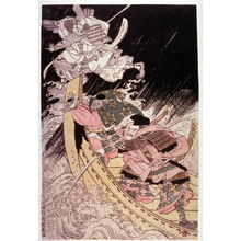 北尾政美: The Ghost of Tomomori Attacking Yoshitsune's Ship at Daimotsu Bay - Legion of Honor