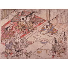 Hishikawa Moronobu: Shutendoji Entertains Raiko and his Retainers at Mount Oe, sheet no. 11 (?)from an untitled series of illustrations of the legend of Shutendoiji - Legion of Honor