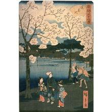 Utagawa Hiroshige II: Shinobazu Pond (Shinobazu ike) from the series Thirty-six Views of the Eastern Capital (Toto sanjurokkei) - Legion of Honor