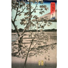 Utagawa Hiroshige II: Cherry Trees at Night by the Sumida River in Tokyo (Toto sumidagawa yozakura) - Legion of Honor