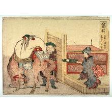 Katsushika Hokusai: Fukuroi, no. 28 from an untitled Tokaido series (reissue of Hokusai's Tokaido series for poetry circle of Okazaki) - Legion of Honor