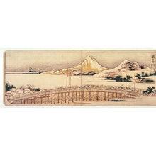 葛飾北斎: Okazaki, no.41 from an untitled Tokaido series (reissue of Hokusai's Tokaido series for poetry circle of Okazaki) - Legion of Honor