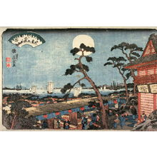Keisai Eisen: Autumn Moon over Atago Hill (Atagosan no aki no tsuki) from the series Eight Views of Edo (Edo hakkei) - Legion of Honor