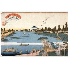 Keisai Eisen: Descending Geese on the Sumida River (Sumidagawa no rakugan) from the series Eight Views of Edo (Edo hakkei) - Legion of Honor