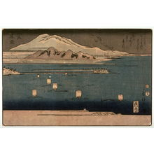 歌川房種: Evening Snow on Mt. Hira (Hira bosetsu) from an untitled series of Eight Views of Lake BiwaKeikoKeyes recommended light restriction: No - Legion of Honor