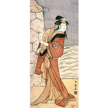 勝川春英: Iwai Hanshiro IV as a Woman with a Sword, panel of a polyptych - Legion of Honor