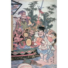 歌川国安: Treasure ship with the Seven Lucky Gods - Legion of Honor