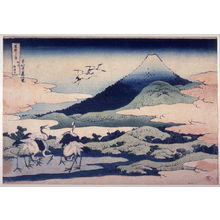 Katsushika Hokusai: Fuji, with Umezawa Marsh on the Left, in Sagami Province, from the series Thirty-Six Views of Mount Fuji - Legion of Honor