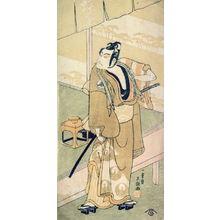 Ippitsusai Buncho: The actor Matsumoto Koshiro III (Danjuro V) as Soga no Goro Disguised as a Commoner, Standing Outside an Establishment called Choya (The Butterfly) - Legion of Honor